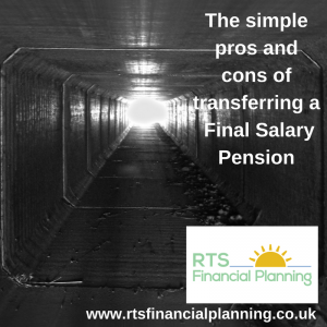 An image of light at the end of a tunnel symbolising the clarity of transferring a final salary pension