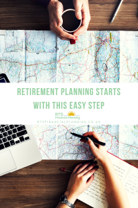 Maps and notes for retirement planning