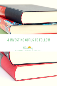 Pictures of books for investing gurus to follow
