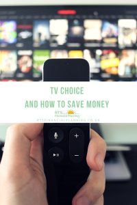 Picture of TV and remote control for TV choice and how to save money